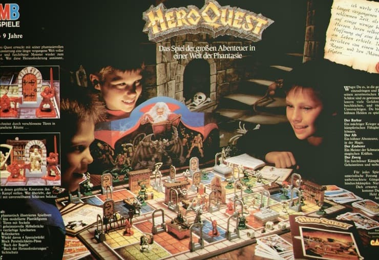 Hero Quest German Back Cover